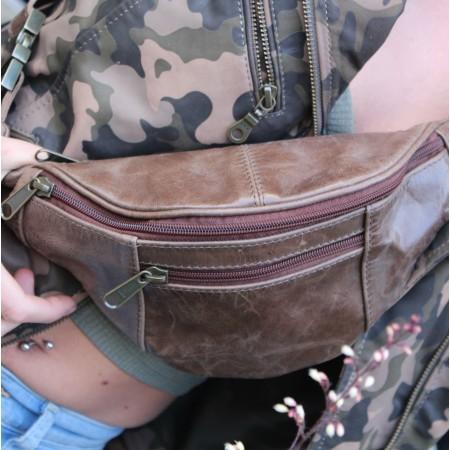 Brown Bumbag Leather