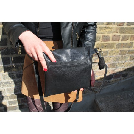 Dublin Mini Clip Bag Black Leather