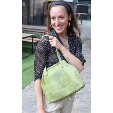 Half Maya Framed Bag Apple Green Leather