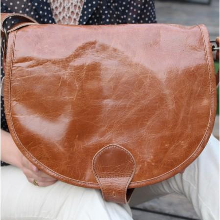 Saddle Bag Tan Large