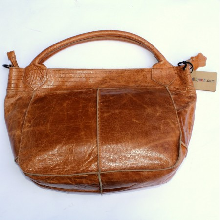 Bach Medium Tote Tan Scrunchy Leather