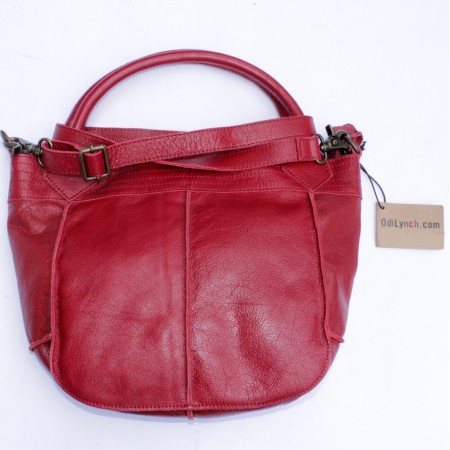 Bach Small Tote Bag Red Leather