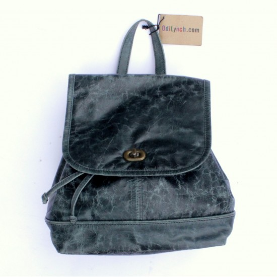 Barcelona Small Rucksack Navy Leather