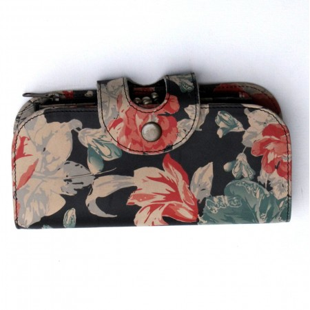 Big Fat Floral Ex Large Wallet Spanish Floral Leather