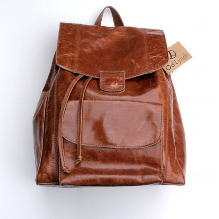 Coolruck Large Rucksack Tan Scrunchy Leather