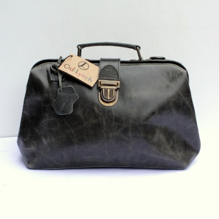 Doctor Bag 01 Charcoal grey Leather
