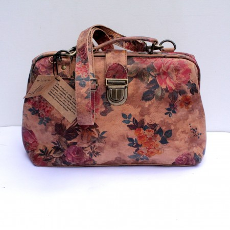 Doctor Bag 01 Floral 14 Light Suede