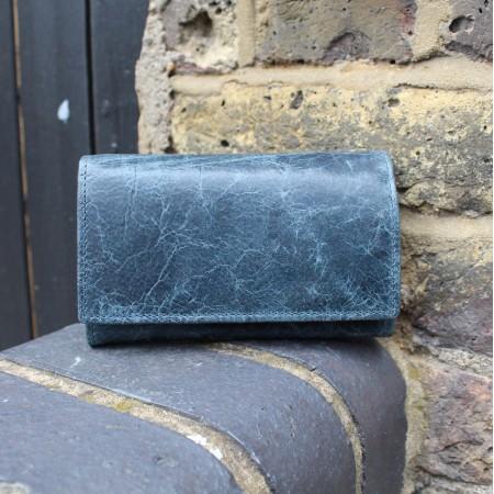 Madamzel Wallet Navy Blue Leather