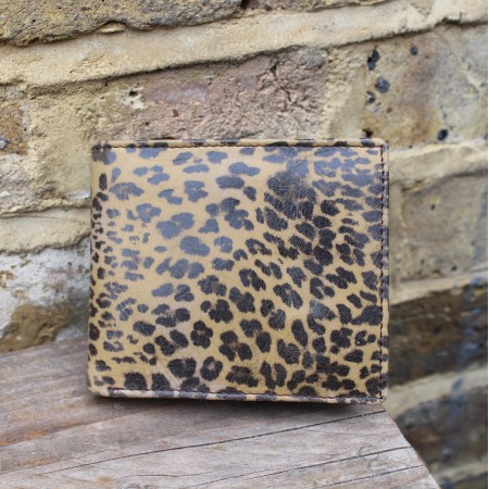 Alberta Wallet Leopard Print Leather