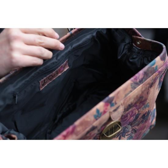Doctor Bag 01 Floral 14 Suede