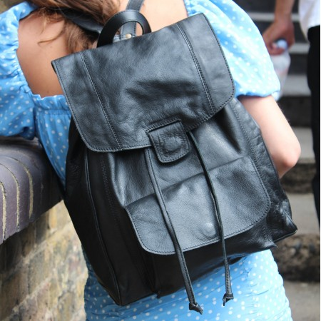 Coolruck Large Rucksack Black Leather