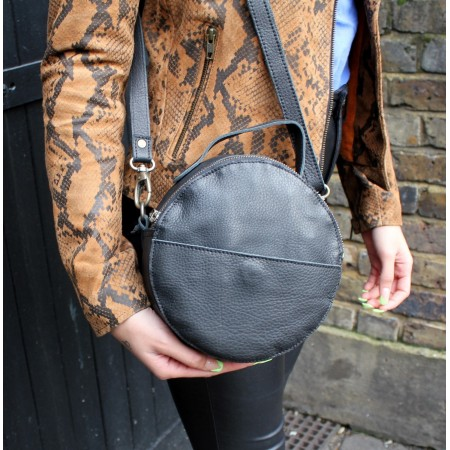 Rupert Round Crossbody Bag Black