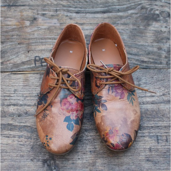 Odilynch Shoes - Warm Floral Print