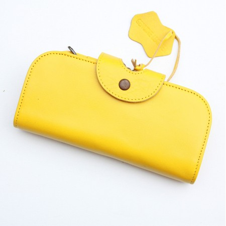 Big Fat Extra Large Wallet Yellow Leather