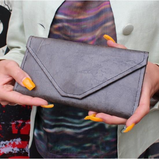 Teakleaf Wallet Clutch Charcoal