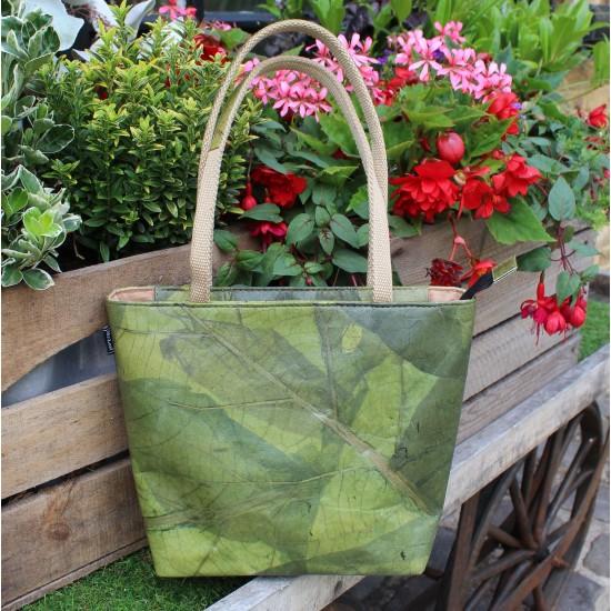 Teakleaf Green Small Shopper