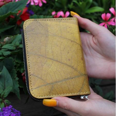 Teakleaf Zip Surround Wallet Yellow