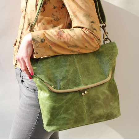 Dublin clip large bag - apple green