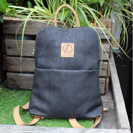 Cork Oxford Black Backpack