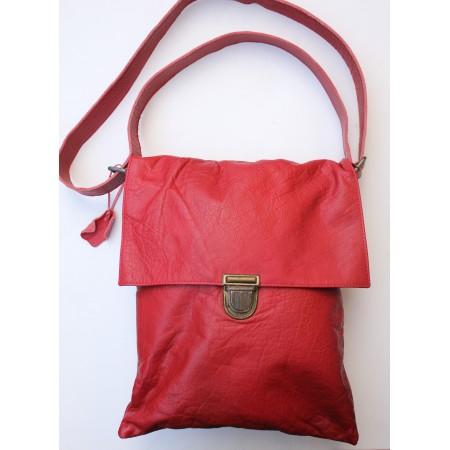 Envelope Red Large Leather Bag