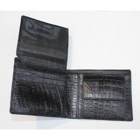 Alberta Animal Print Black Leather Wallet Leather