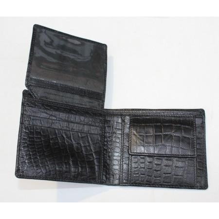 Alberta Animal Print Black Leather Wallet