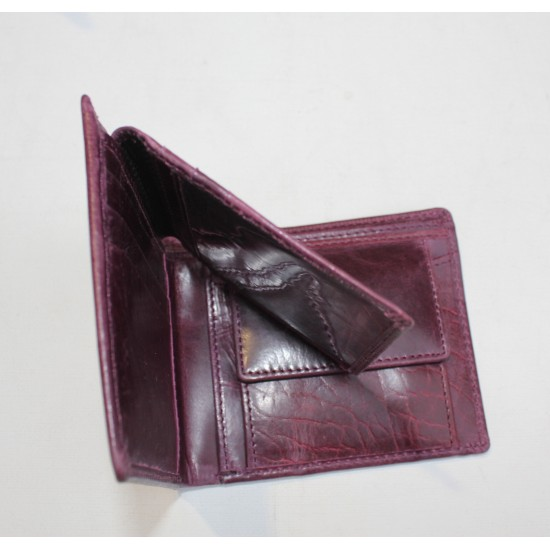 Alberta Purple Leather Wallet Leather