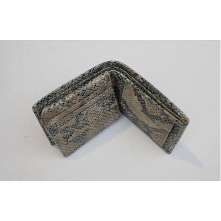 Alberta Snake print Blue Leather Wallet
