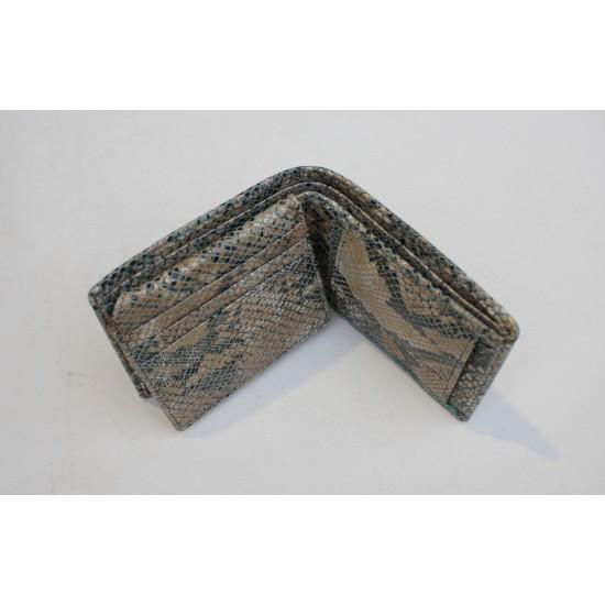 Alberta Snakeprint Blue Leather Wallet