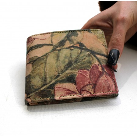 Alberta wallet Floral Italian Printed Leather