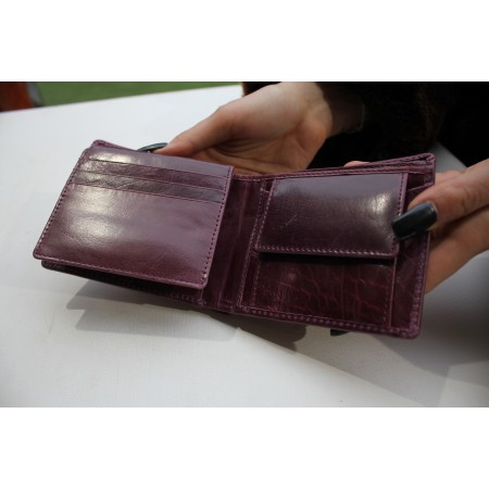Alberta Purple Leather Wallet