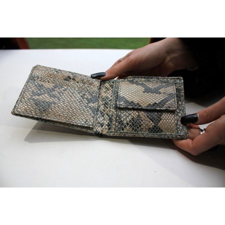 Alberta Snakeprint Blue Leather Wallet