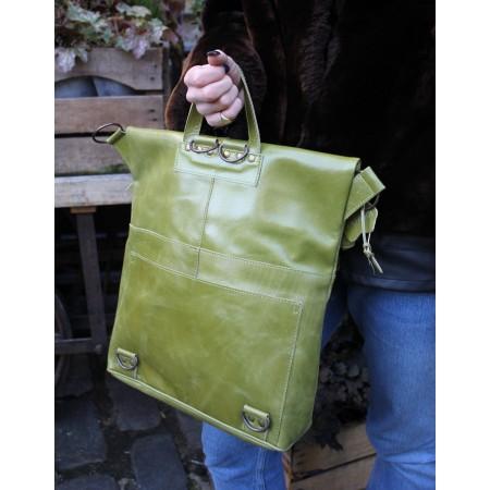 Belgian Zip Convertible Appe Green Leather