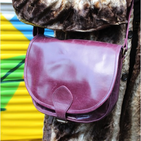 Isabelle Saddle Bag Medium Purple