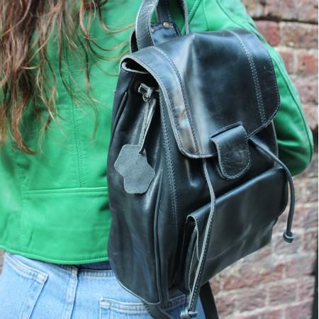 Coolruck Rucksack Navy Leather