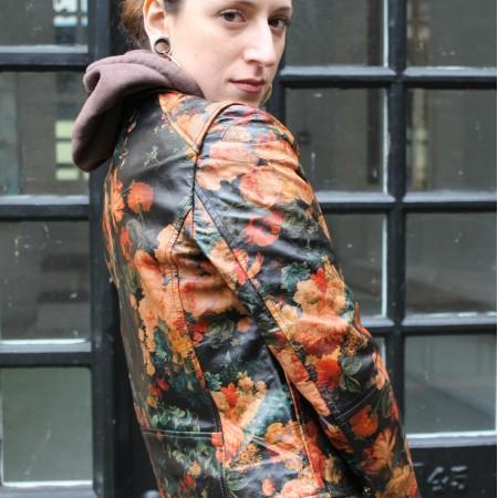 Biker Renaissance Floral Leather Jacket