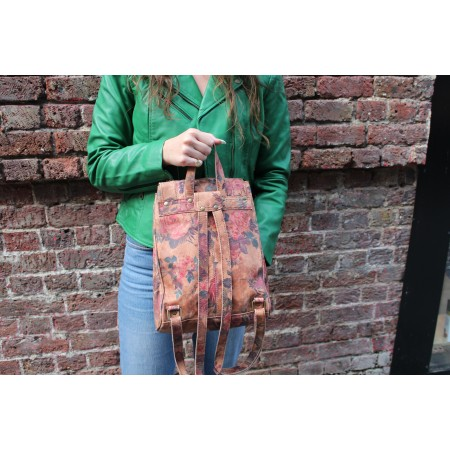 Coolruck Small Rucksack Floral No 14 Print Leather