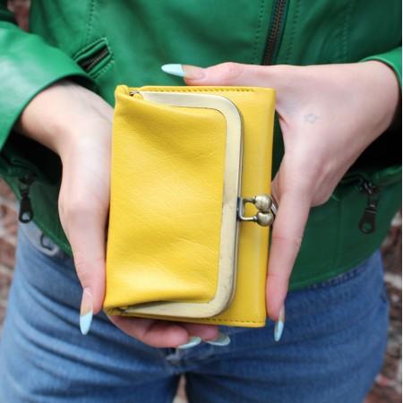 Frame Purse Wallet Yellow