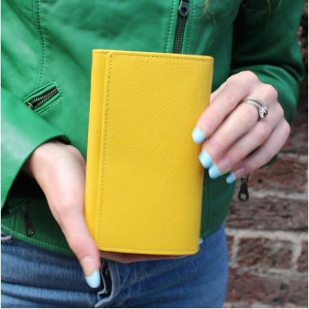 Madamzel Large Yellow Wallet Leather