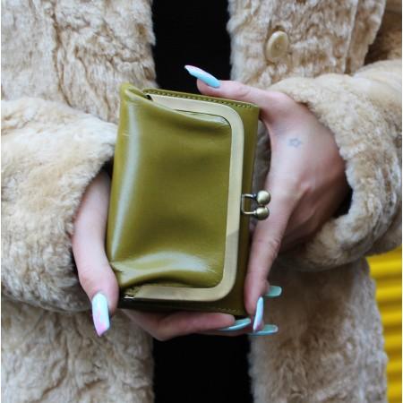 Evanna Clip Wallet Apple Green
