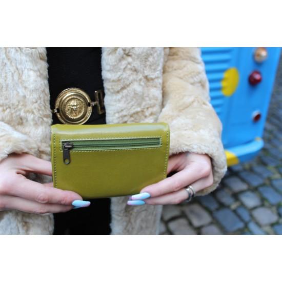 Evanna Small Clipframe Wallet Apple Green