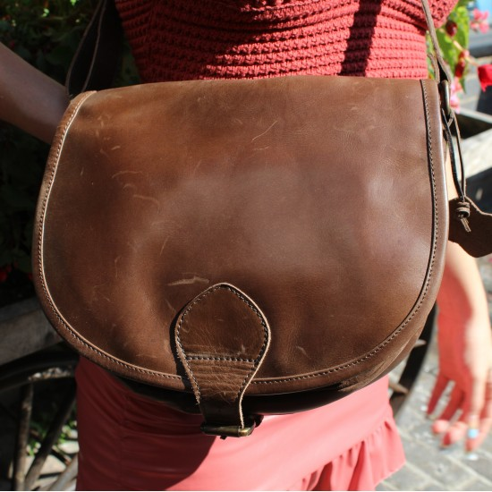 Isabelle Medium Saddlebag Brown Leather