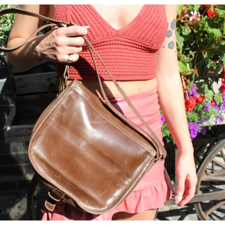 Saddle Bag Brown Medium