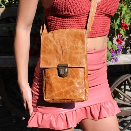 Mini Messenger Bag Tan