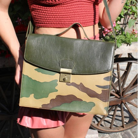 American Funky Bag Camouflage Leather
