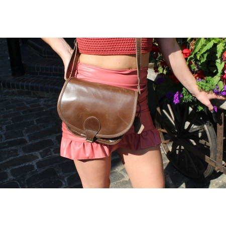 Isabelle Saddle Bag Brown Small