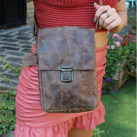 Mini Messenger Bag Brown