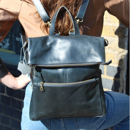 Amelie Convertible Backpack Navy