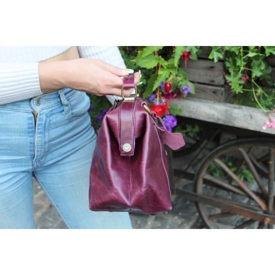 Minidoc Doctor Bag Purple Leather