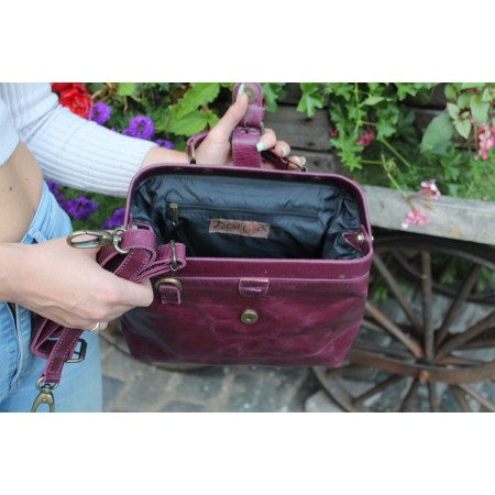 Doctor Bag Small Purple Leather
